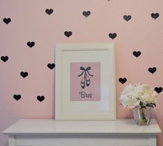 Heart wall decals in shop now.