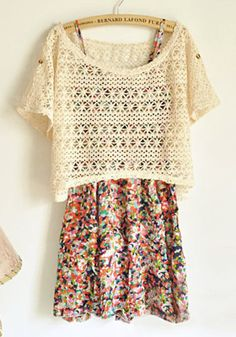 SWEET FLORAL SKIRT WITH SHOULDER-STRAPS DRESS WITH BLOUSE