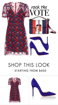 """""""The Polls"""" by cherieaustin on Polyvore featuring Anna Sui, Christian Louboutin, Dolce&Gabbana, rockthevote and imwithher"""