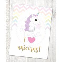 Impresso Porta Retrato 15 x 21 Love Festa Unicornio