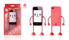 Wholesale Appitoz case for iphone4 4s cute face expression,10pcs/lot with retail package,with arm and leg housing for iphone 4 s $14.00