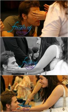 Paul letting a blind girl touch his face at the Con in Rome!.