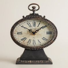 One of my favorite discoveries at WorldMarket.com: Black Dory Clock