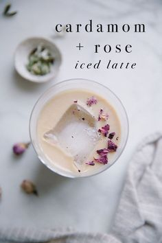 Recipe for Cardamom + Rose Iced Latte /// photo + styling by Beth Kirby | LM