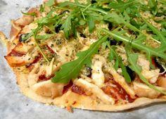 Pizza casera de pollo :)