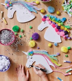 How To Make a Unicorn Foamie Heads Craft Activities, Preschool Crafts, Fun Crafts, Arts And Crafts, Paper Crafts, Projects For Kids, Diy For Kids, Crafts For Kids, Craft Projects