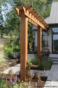 backyard trellis designs