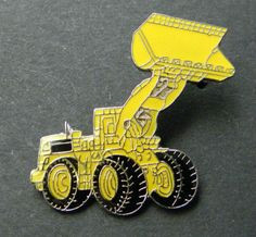 Large Red Tractor 38mm Pin Badge