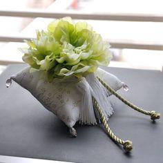 【リングピロー】和クッション 翠玉(すいぎょく) 手作りキット