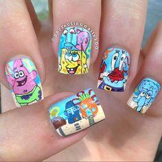 perfectionnails100 spongebob #nail #nails #nailart