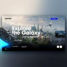 "Graphic Design UI UX WebDesign di Instagram ""Star Wars Galaxy's Edge webdesign @aedwards01"""