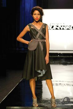 Here's our friend's, Designer Michelle Lesniak Franklin's look on #ProjectRunway Episode 1 Season 11.