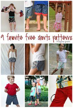 nine favorite free shorts patterns imagine gnats