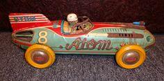 1950s Yonezawa Tin Atom Friction Car. 405.00, via Etsy.