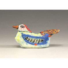 Sculpted Small Ceramic Bird  Jon by jennymendes on Etsy $37.00