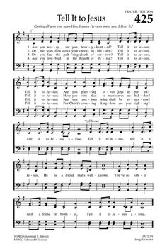 Baptist Hymnal 2008 425. Are you weary, are you heavy hearted? - Hymnary.org