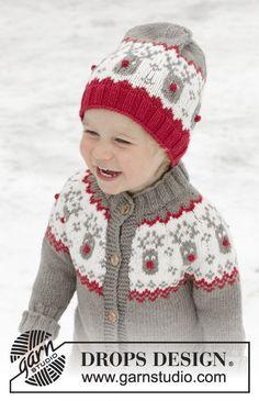 Run Run Rudolph Hat   DROPS Children - Gorro de punto para niños en DROPS  Merino Extra Fine con patrón de jacquard nórdico. Tallas 12 meses – 8 años. e15ab84a93e