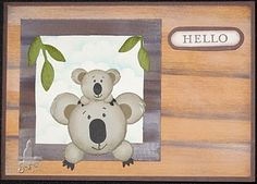Stampin' Up!  Koala Punch Art  Pat Carr -- Since Koala is one of the only things that rhymes with Paula, I've been in love with them my whole life.