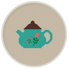 Сross stitch pattern Teapot with flower PDF от MagicCrossStitch