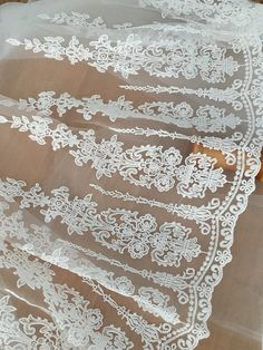 4 Yards Vintage Style Beautiful Cotton Embroidered Lace Trim Fl Embridery Tulle