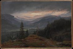 View over Hallingdal Johan Christian Dahl (Norwegian, Bergen 1788–1857 Dresden) Date: 1844 Medium: Oil on canvas