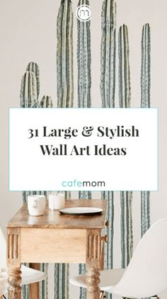 From bright florals to inspiration prints, read on for large wall art ideas. We love room decor projects! Via: Urban Outfitters