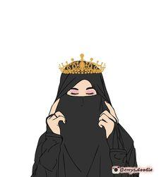 kumpulan anime kartun muslimah bercadar terbaru - my ely Cute Muslim Couples, Muslim Girls, Beautiful Muslim Women, Beautiful Hijab, Girl Cartoon, Cartoon Art, Hijab Musulman, Turban Hijab, Muslim Pictures