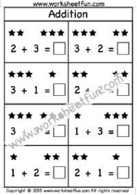 Addition 1 Digit Free Printable Worksheets Kindergarten Worksheets Free Printables Addition Kindergarten Free Printable Worksheets