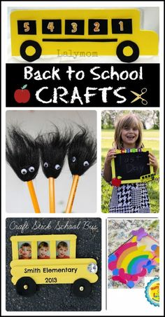 Five fun and easy crafts to help kids and their parents get excited for the first day of school.