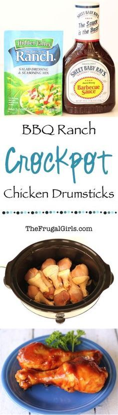 Crockpot BBQ Ranch Chicken Drumsticks Recipe! | The Frugal Girls | Bloglovin'