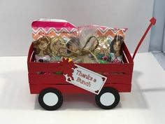 Little Red Wagon Treat Holder Christmas Poems, Christmas Favors, Christmas Fun, Rustic Christmas, Treat Holder, Treat Box, 30th Birthday Gifts, Birthday Crafts, Little Red Wagon