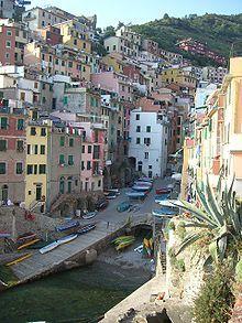 a beautifully rugged coastal town on the Italian Riviera