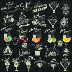 Restaurant and cafe logos design vector 05