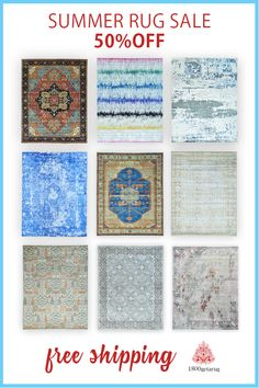 Unique colors and designs that we commission to be made in multiple different sizes and shapes.  When we refer a certain rug to be a program piece, we mean and refer that the same exact design and color combination will be various sizes.