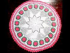 Tapete Em Crochê Flor Cata-Vento- #Parte 1