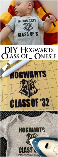 If I ever had a kid, this would happen. How to make your own Hogwarts Class of '32 (or other year) onesie.
