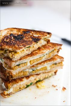 Curried Tempeh Grilled Cheese with Mango Chutney Recipe