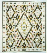 1800 - 1815 Taunay Family's Framed Center Quilt Top