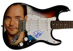 Dave Matthews Signed Airbrushed Guitar PsaDna  Video Proof Aftal -- See this great product.