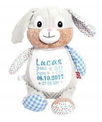Bestickte Kuscheltiere mit Geburtsdatum und Wunschdesign Smurfs, Teddy Bear, Toys, Design, Character, Animals, Birthday Dates, Personalized Gifts, Toddlers