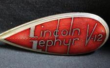 Vintage Lincoln Zephyr V-12 Car Badge Emblem Ornament Auto Hood Grille Radiator