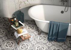 Cement looking porcelain decorative design tile.