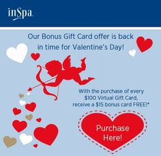Our online gift card offer is back for Valentine's Day!