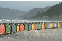 Bathing/Changing Huts on Muizenberg Beach, Cape Town, South Africa. Cape Town South Africa, East Africa, South Afrika, Most Beautiful Cities, Cool Photos, Surfing, Places To Visit, City, Waka Waka