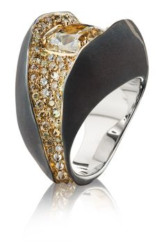 MARKIN. 5 CARAT STONE RING COLLECTION: STONES yellow diamonds, white gold #markin #markinjewellery #jewellery
