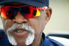 Red Sox Hall of Famer Luis Tiant talks with a friend during a baseball spring training in Fort Myers, Fla., Wednesday, Feb. 25, 2015. (AP Photo/Naples Daily News, Corey Perrine) Boston Red Sox Team Photos - ESPN