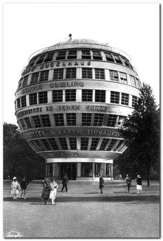 Dieselpunk Architecture | Dresdner Kugelhaus, by Peter Birkenholz, 1928 #Circular #Architecture