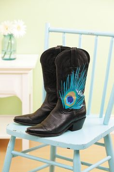 """Feather boots from the book """"Go Crazy with Duct Tape"""""""