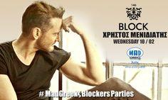 Το #Block146 είναι ο κορυφαίος all day προορισμός στην #Νέα #Ερυθραία την Τετάρτη 10/02 υποδέχεται για live εμφάνιση τον Χρήστο #Μενιδιάτη ! #Τηλέφωνο κρατήσεων: 6981219034 - 6958288452