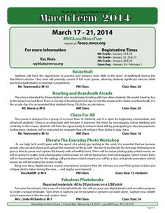 March Term for Monte Vista Christian Middle School
